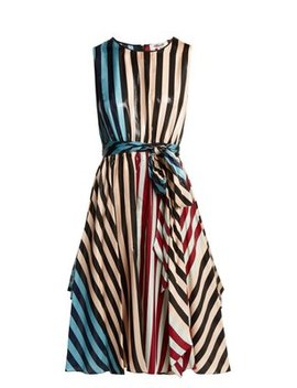 Carrington Stripe Silk Blend Dress by Diane Von Furstenberg