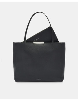 Soft Leather Shopper Bag by Ted Baker