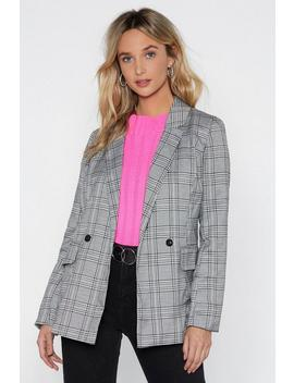 Check Please Relaxed Blazer by Nasty Gal