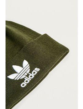 Adidas Originals   Bonnet Duveteux à écusson Blanc by Adidas Originals