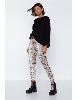 Out Of Hiss World Snake Leggings by Nasty Gal