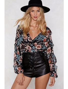 Make A Grow Of It Floral Top by Nasty Gal