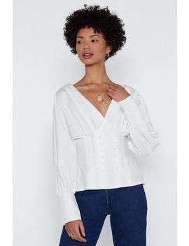 Keep It Button Down Shirt by Nasty Gal