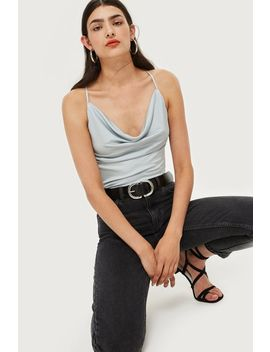 Slinky Cowl Neck Bodysuit by Topshop
