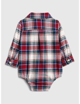 Flannel Long Sleeve Bodysuit by Gap