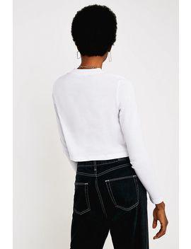 Calvin Klein Jeans   T Shirt Court à Manches Longues Et Logo by Calvin Klein Jeans