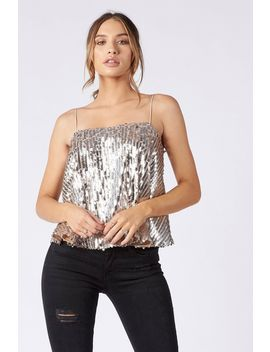 **Embellished Sequin Cami By Club L by Topshop