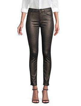 Metallic Ankle Skinny Jeans by 7 For All Mankind