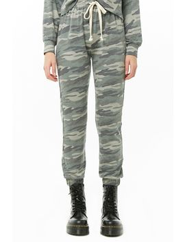 French Terry Camo Joggers by Forever 21