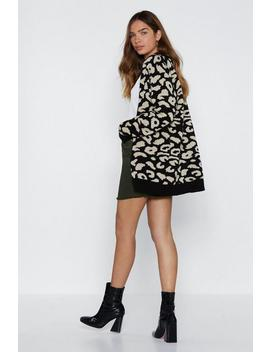 Paws And Reflect Leopard Cardigan by Nasty Gal