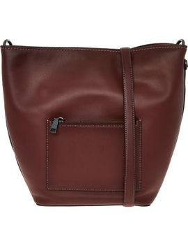 Bordeaux Leather Tote Bag by Coach