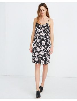 Button Front Slip Dress In Winter Orchid by Madewell