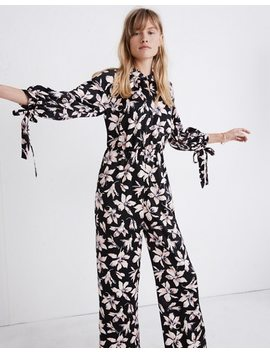 Tie Sleeve Jumpsuit In Winter Orchid by Madewell