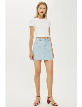 Bleach Denim Skirt by Topshop