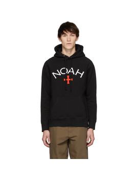 Black Logo Hoodie by Noah Nyc