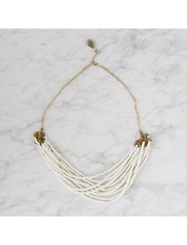 White African Opal Bib Necklace by Terrain