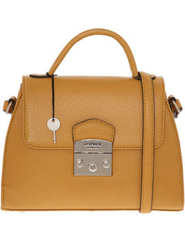 Mustard Leather Cross Body Bag by Osprey London