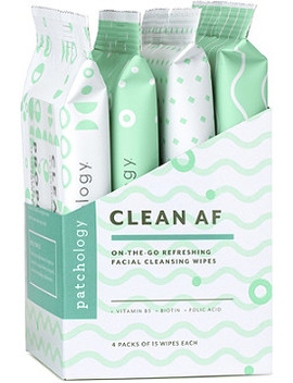Online Only Clean Af On The Go Refreshing Facial Cleansing Wipes by Patchology