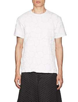 River Rock Embossed Cotton Jersey T Shirt by Comme Des Garçons
