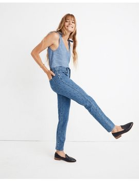 Slim Straight Jeans: Navy Dot Edition by Madewell