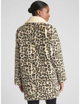 Leopard Faux Fur Coat by Gap