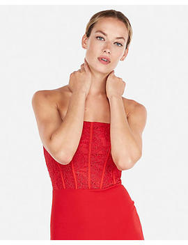 Corset Detail Tube Sheath Dress by Express