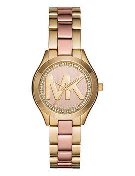 Women's Mini Slim Runway Two Tone Stainless Steel Bracelet Watch 33mm Mk3650 by Michael Kors