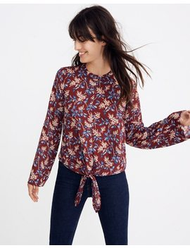 Bell Sleeve Tie Top In Antique Flora by Madewell