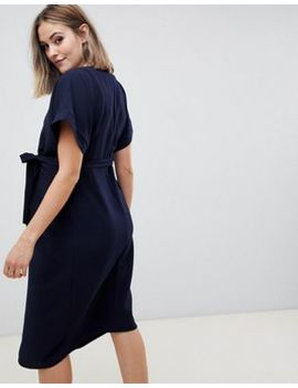 Asos Design Maternity Wrap Midi Dress by Asos Design