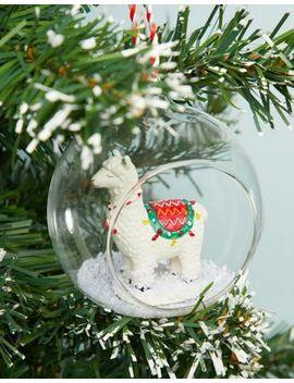 Sass & Belle – Weihnachtsbaumkugel Mit Lama Motiv by Asos