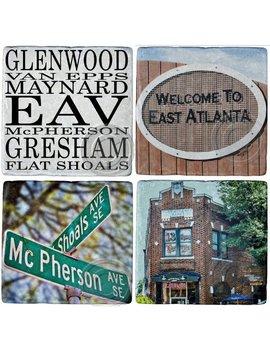 East Atlanta Coasters, Eav Coasters, Atlanta Coasters, East Atlanta Gifts, U Pick 4, Set Of 4 Coasters By Hazel, by Etsy