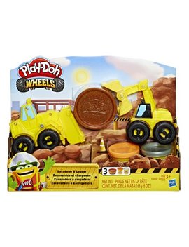 Play Doh Wheels Excavator And Loader Toy Construction Trucks by Play Doh