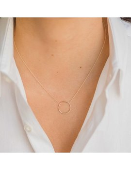 14k Gold Ring Necklace by Etsy