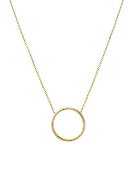 14k Gold Circle Necklace by Etsy
