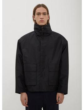Renik Funnel Neck Jacket In Black by Jil Sander