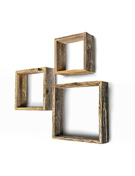 Barnwood Usa Rustic Farmhouse Floating Box Shelves Made Of 100 Percents Reclaimed And Recycled Wood | Open Shadow Box Style To Display Other Pieces Or Show Off By Themselves | Made In Usa by Barnwood Usa