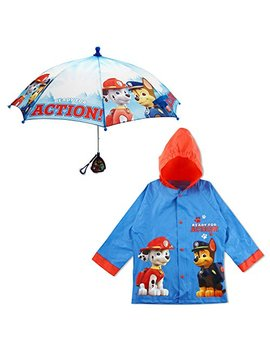 Nickelodeon Little Boys Paw Patrol Character Slicker And Umbrella Rainwear Set, Age 2 7 by Nickelodeon