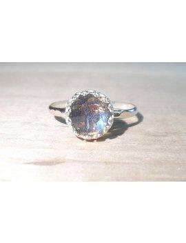 Labradorite Ring, Silver Labradorite Ring, Gemstone Ring, Rose Cut Labradorite, Sterling Ring, Midnight Moonstone Ring, Moonstone Jewelry by Etsy