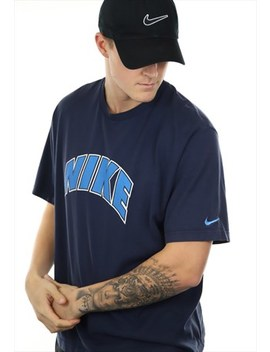 Vintage 90s Nike T Shirt Navy by Nike