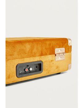 Crosley X Uo Topaz Velvet Cruiser Bluetooth Vinyl Record Player by Crosley Shoppen