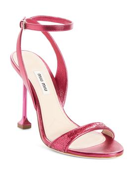Sequin Pin Heel Sandal by Miu Miu