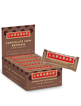 Larabar Gluten Free Bar, Chocolate Chip Brownie, 1.6 Oz Bars (16 Count) by LÄrabar