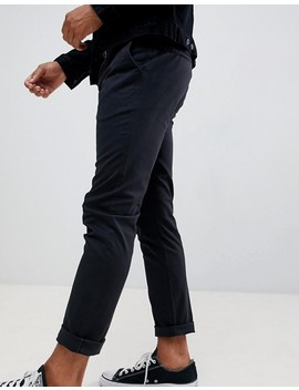 Pier One Slim Fit Chino In Black by Pier One
