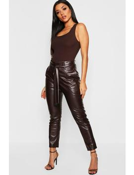 Pu Paper Bag Trouser by Boohoo
