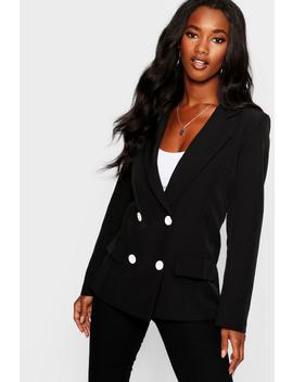 Utility Button Detail Blazer by Boohoo