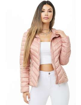 Velvet Lined Quilted Jacket by Forever 21