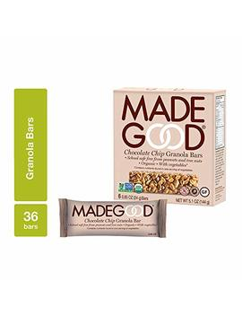 Made Good Chocolate Chip Granola Bars, 6 Pack (36 Bars); Gluten Free Oats And Delicious Chocolate Chips; Contains Nutrients Of 1 Serving Of Vegetables; Allergy Friendly, Full Of Chewy, Tasty Goodness by Made Good