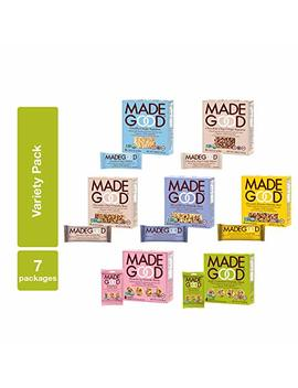 Made Good Variety Pack, 6 Pack; 7 Delicious, Nutritious Made Good Products In The Most Popular Flavors (42 Boxes); Ethically Sourced, Organic, Gluten Free Ingredients; A Versatile, Convenient Snack Pack by Made Good