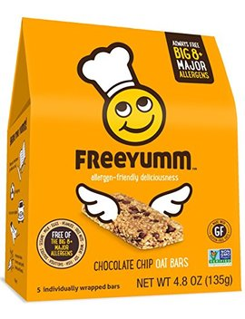 Nut Free Gluten Free Granola Bars, Free Yumm Chocolate Chip Oat Bars, Safe For School Allergen Free Snack Food For Kids, 15 Total Bars by Free Yumm
