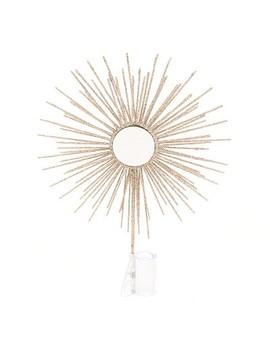 Unlit Mirror Sun Burst Christmas Tree Topper Gold   Wondershop™ by Wondershop